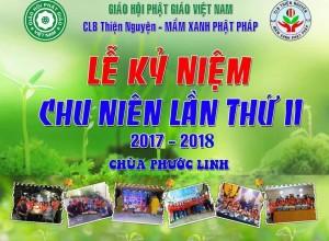 Chu Niên 2 Năm CLB Mầm Xanh Phật Pháp 2018